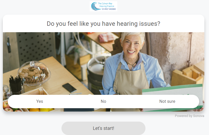 Our new ONLINE HEARING TEST