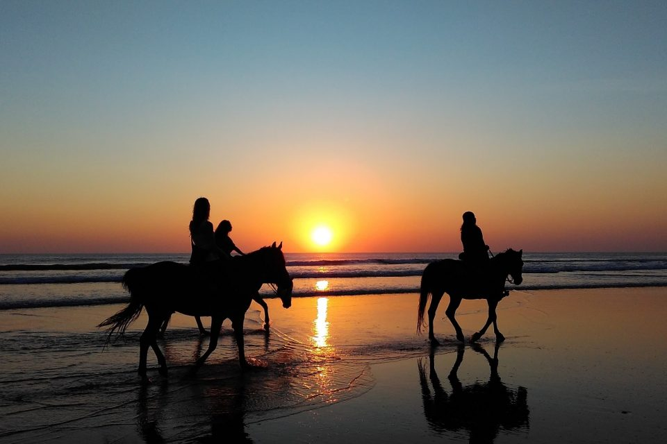 Horse Riding on Talacre Beach, Flintshire, North Wales