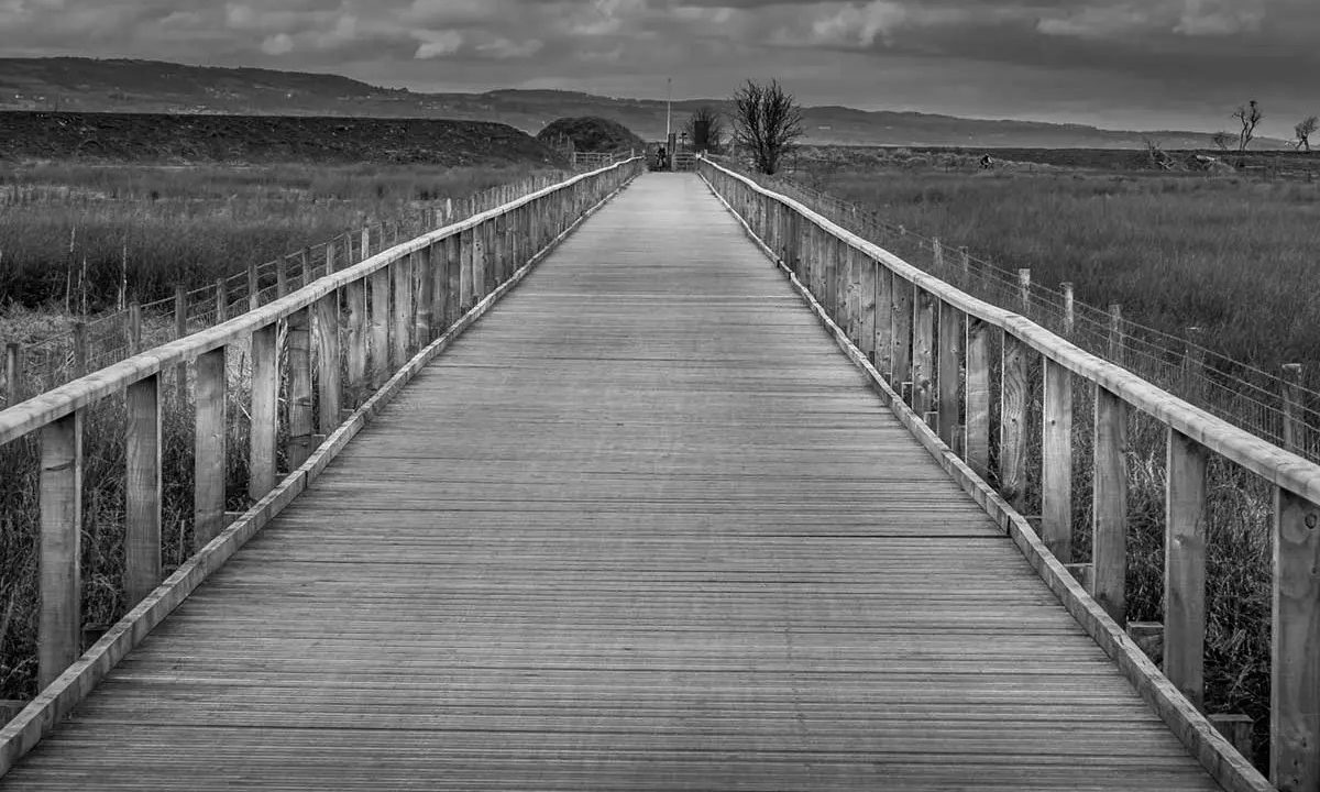 The Dee Estuary Boardwalk - Connahs Quay to Neston