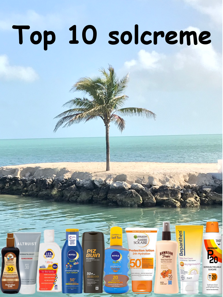 Top 10 solcreme