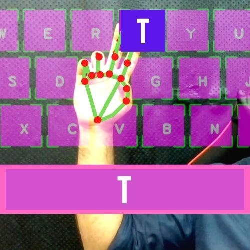 AI Virtual Keyboard CVZone
