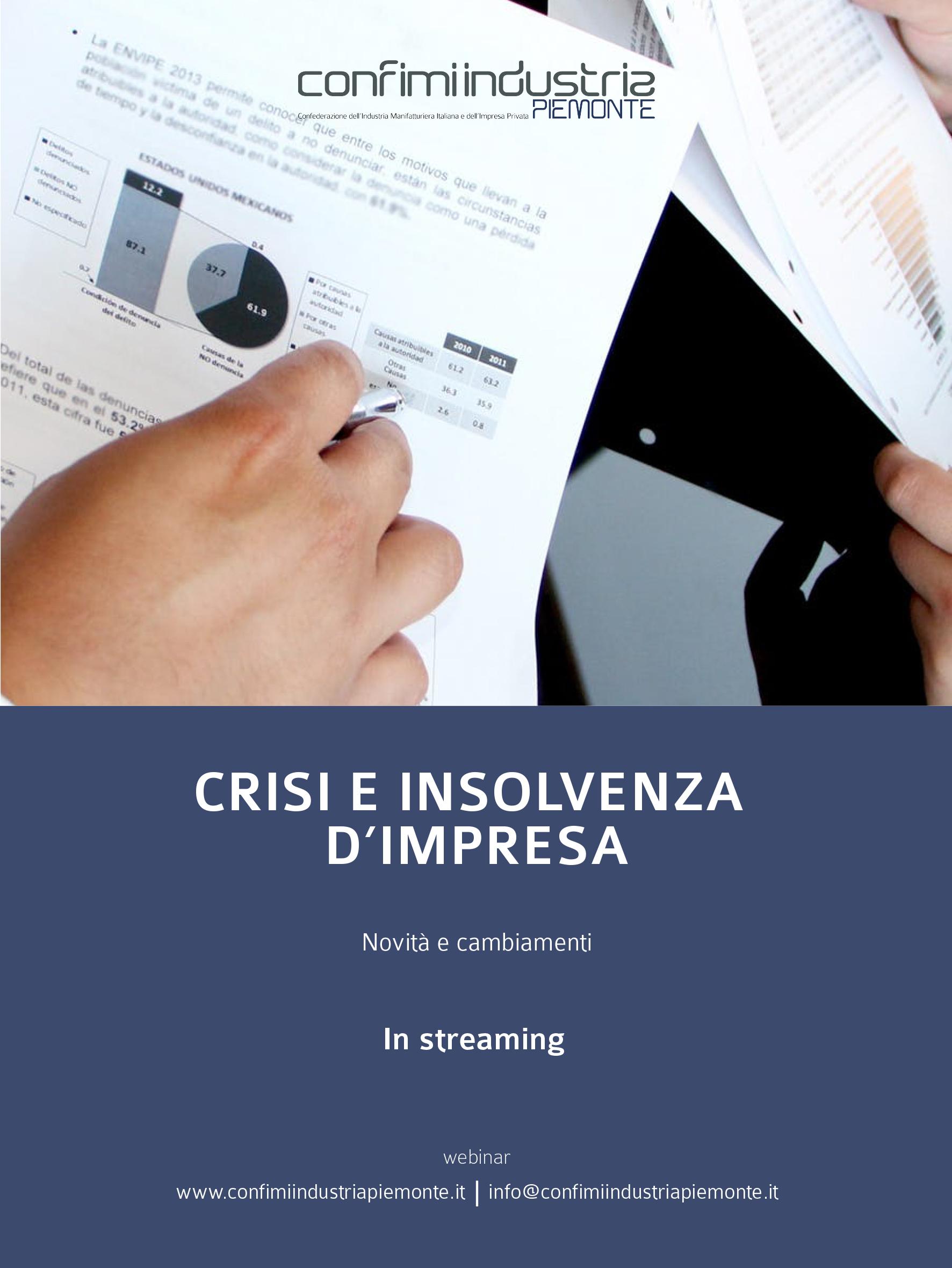 Flyer - Crisi e insolvenza d'impresa