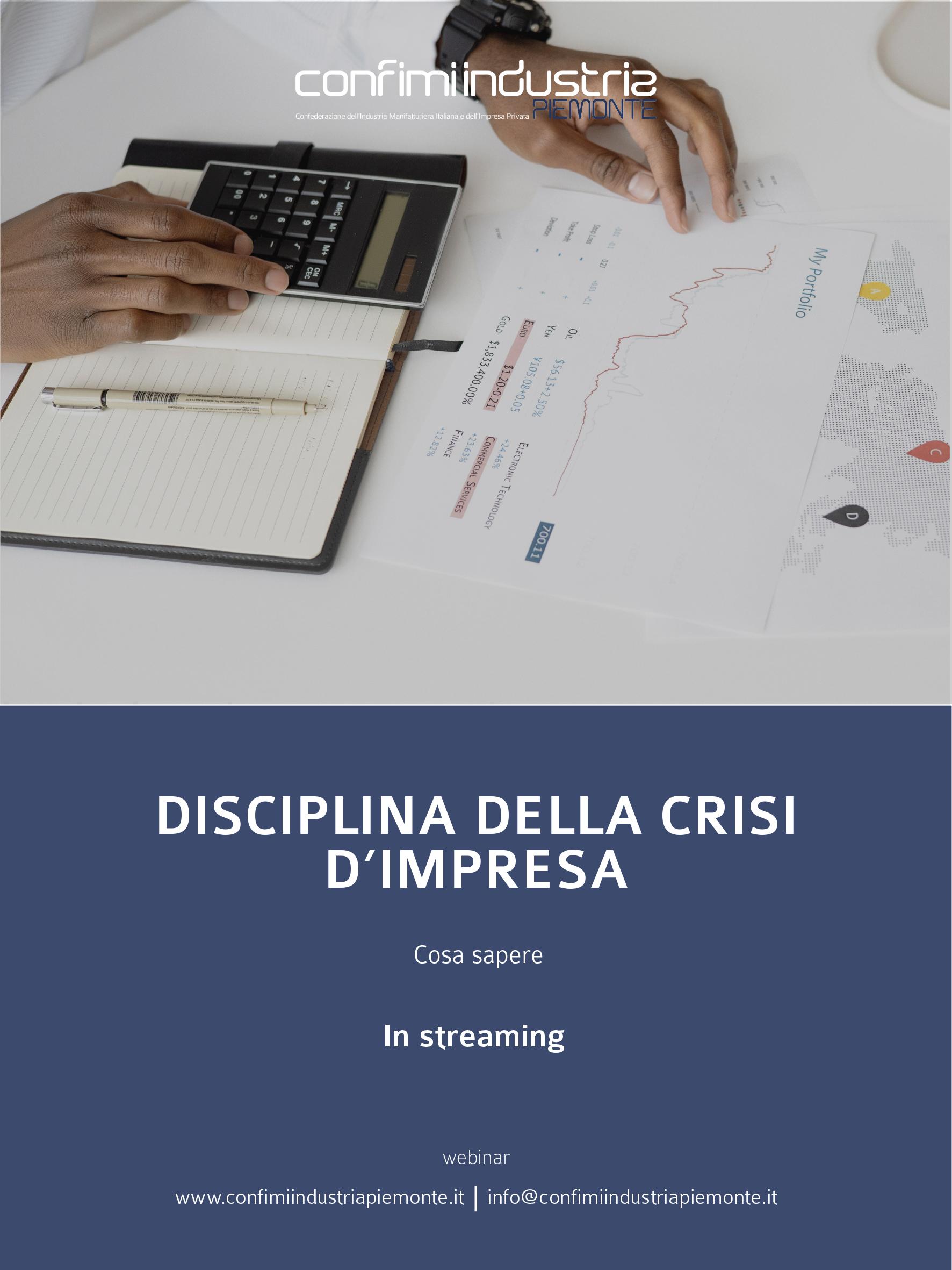 Flyer - Disciplina della crisi d'impresa
