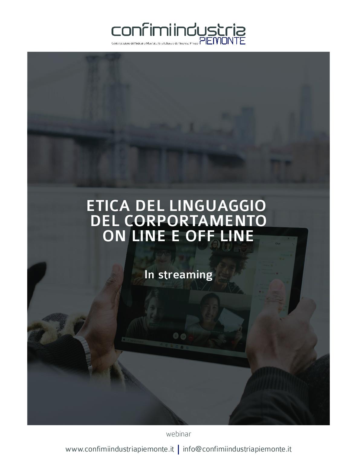 Flyer-Etica-del-linguaggio-del-comportamento-online-e-off-line