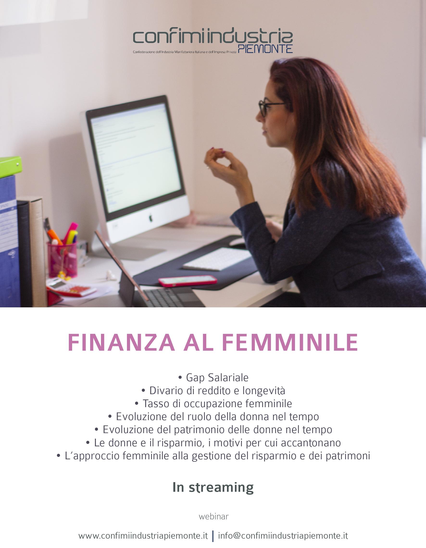 Flyer - Finanza al femminile