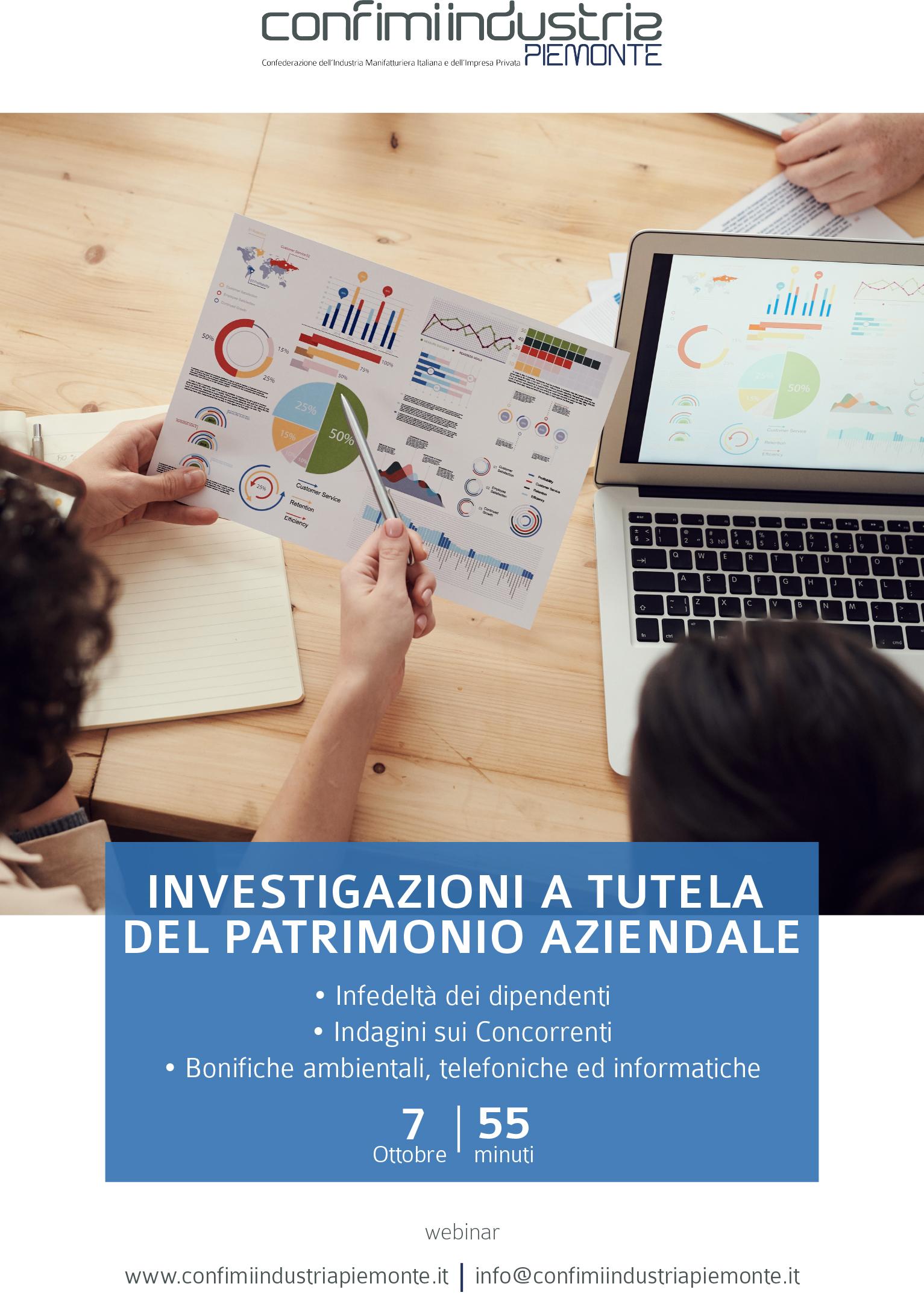 Flyer - Investigazioni a tutela del patrimonio aziendale