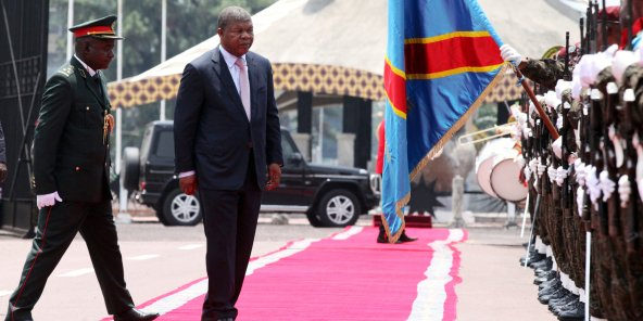 João Lourenço à Kinshasa, le 14 février. © Kenny Katombe /REUTERS
