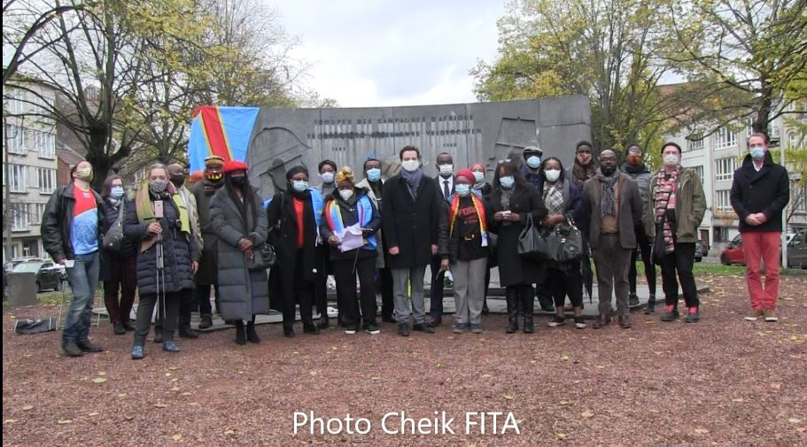Bruxelles. Hommage aux Soldats congolais morts pour la Belgique en 14-18 & 40-45