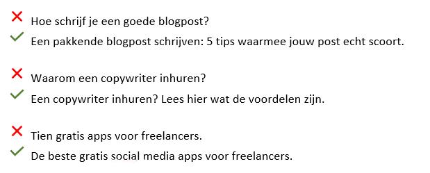 Efficiënt bloggen titels