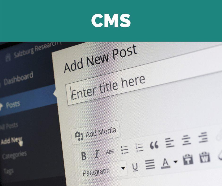 Vælg et CMS - content management system - til din nye hjemmeside, så du selv kan tilføje blogindlæg og artikler og eventuelt rette i anden tekst og billeder på hjemmesiden.