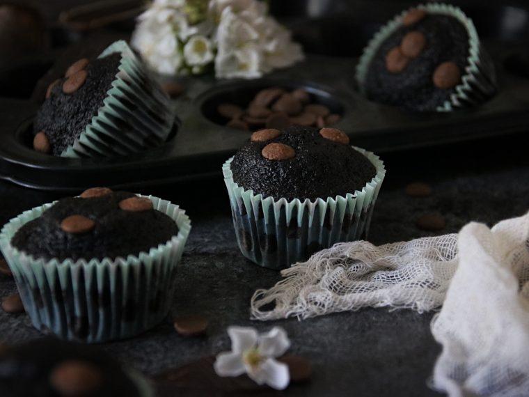 saftiga chokladmuffins one bowl