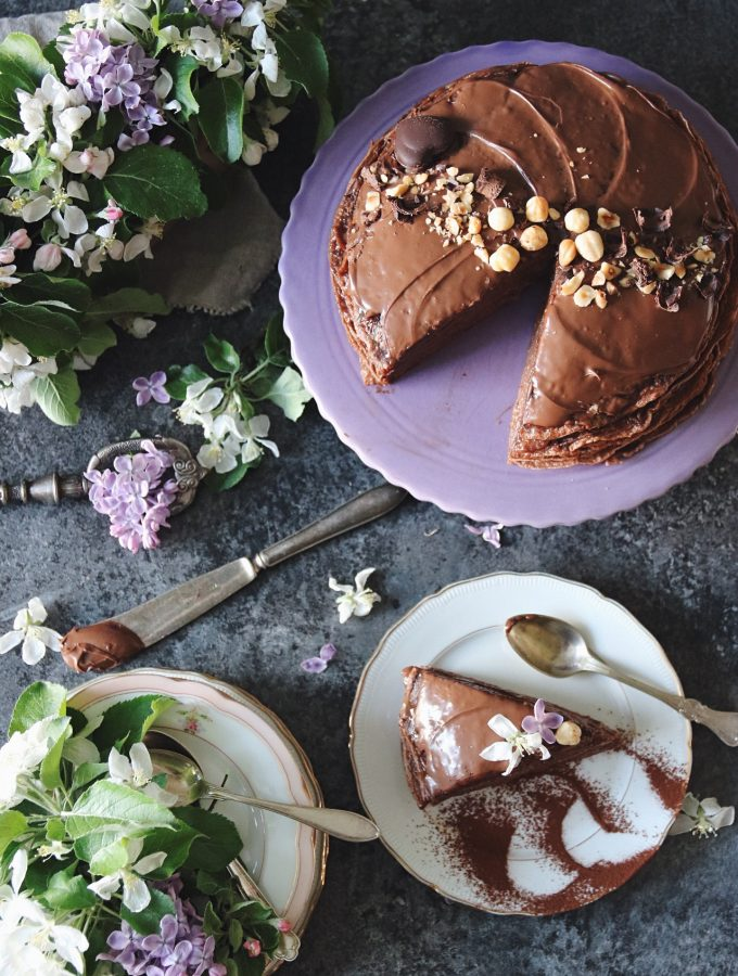 chokladpannkakstårta