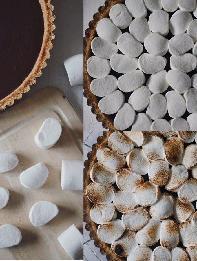 s´mores chokladtryffel paj