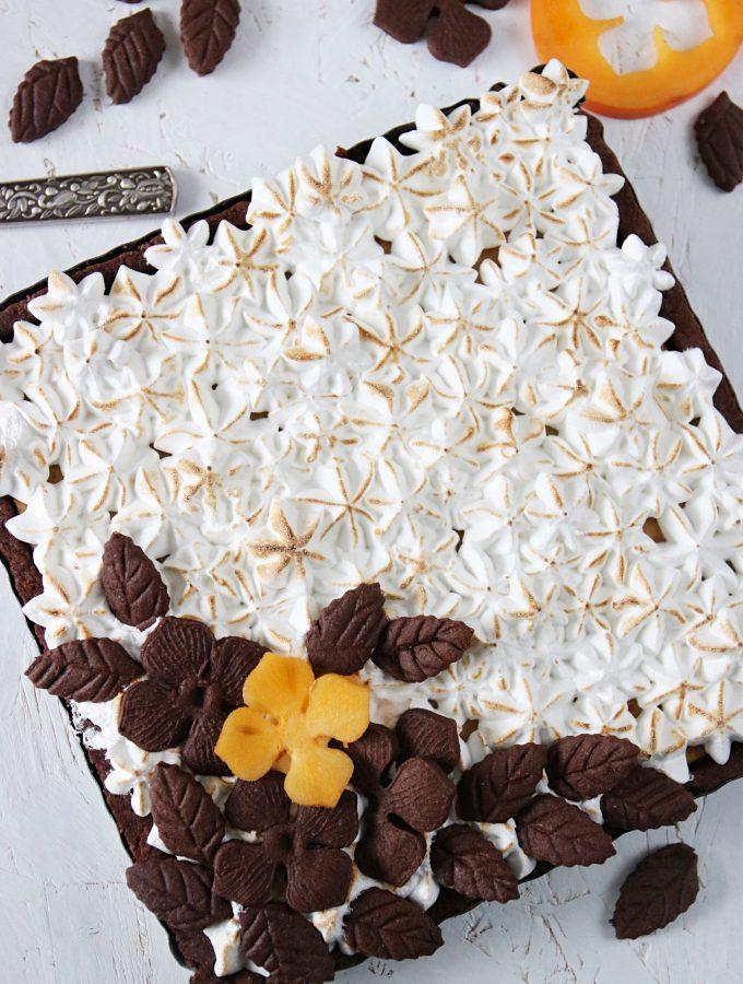 chokladpaj med Sharon frukt
