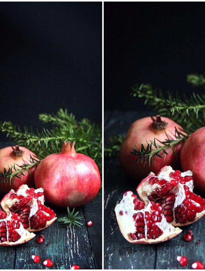 cheesecake med vit choklad och granatäpple