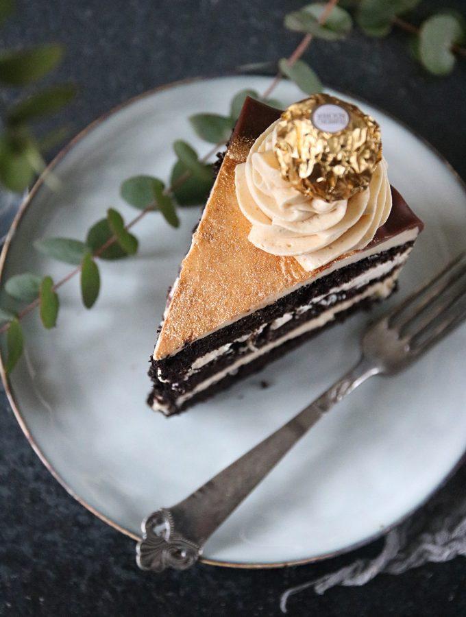chokladtårta med jordnötssmör