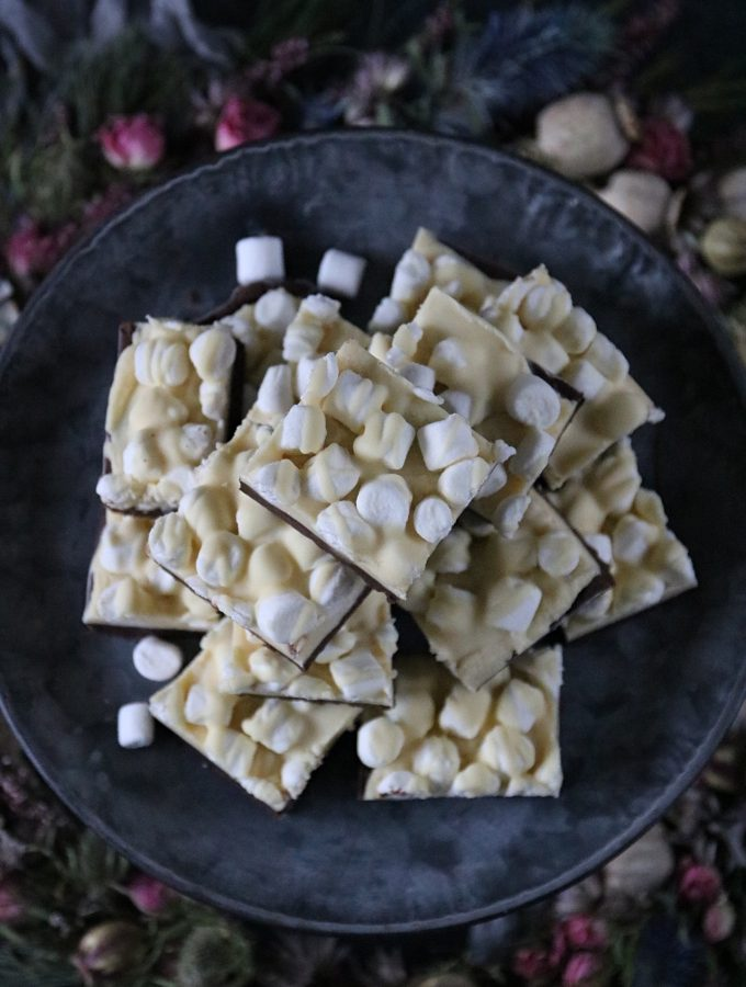 choklad fudge med mini marshmallows