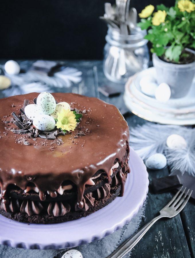 saftig chokladtårta med mörk öl