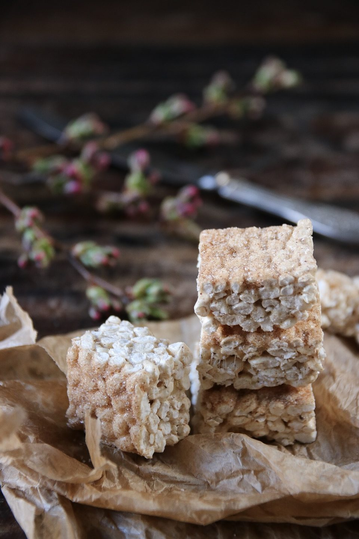 puffat ris och marshmallow bars