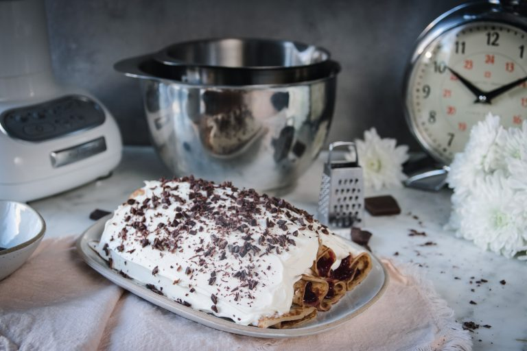 pannkakstårta med färskost