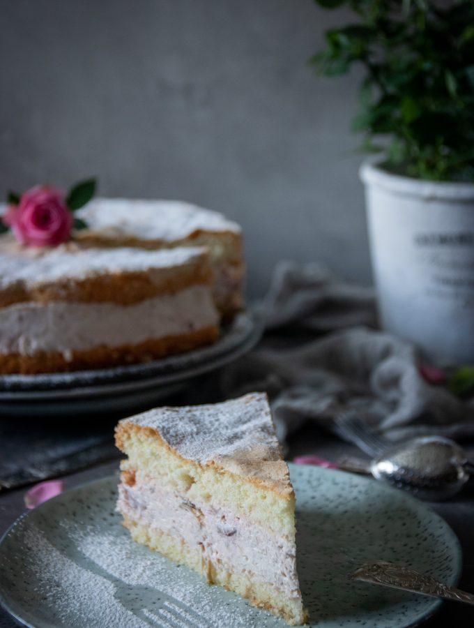 rabarbercheesecake tårta