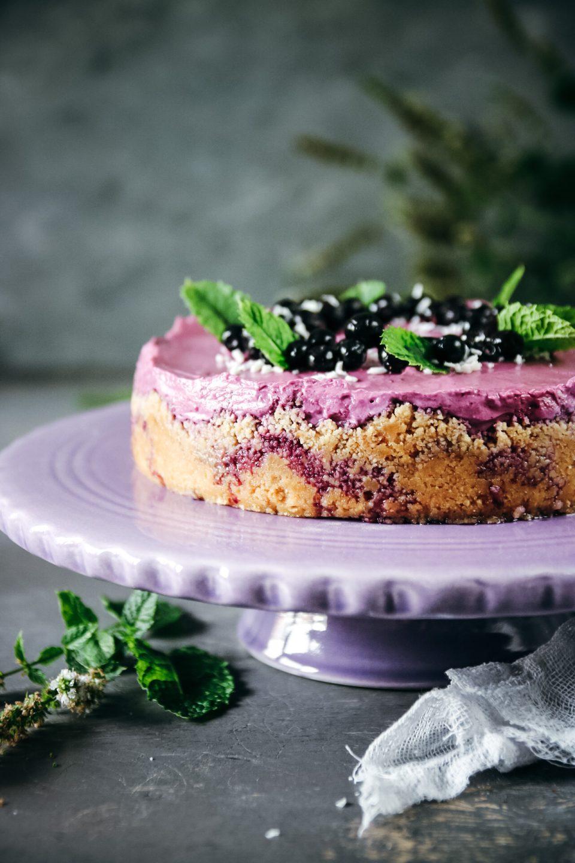 no-bake blåbärscheesecake