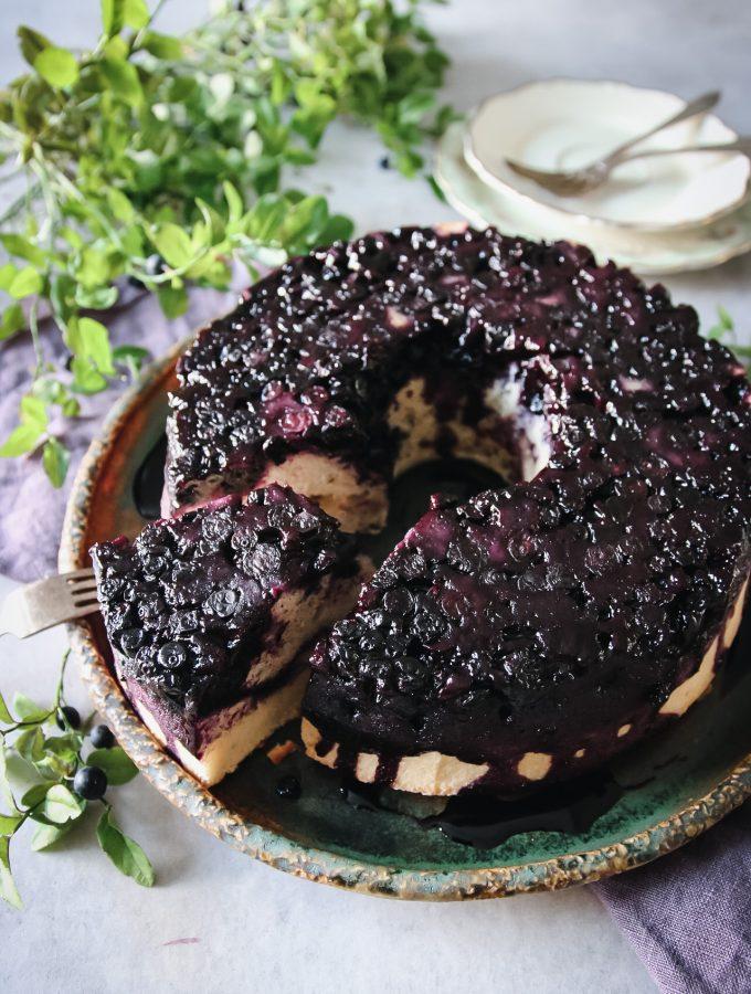 blåbärskaka med kardemumma