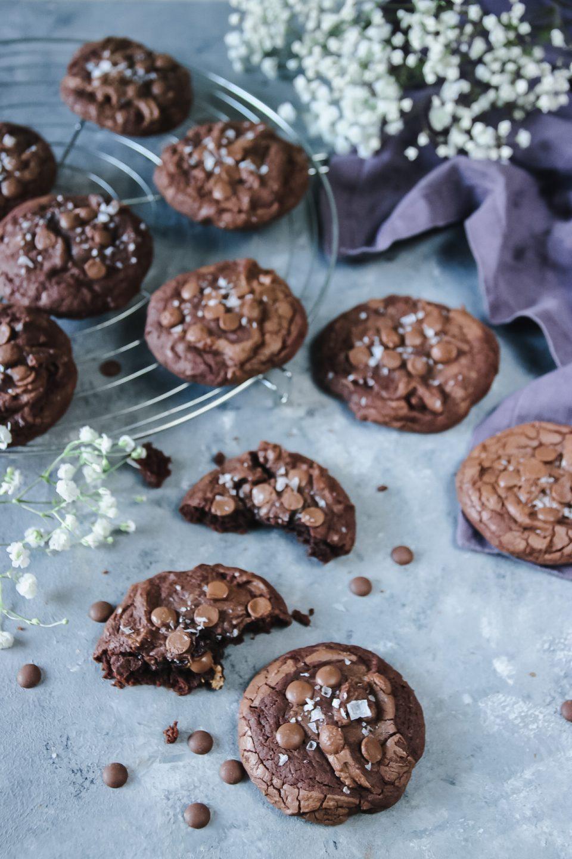 chokladkakor med flingsalt