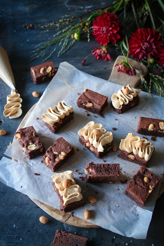 brownies med nötter och salt karamell