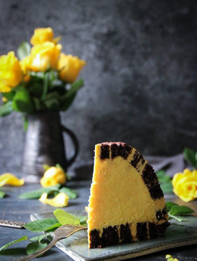 charlotte royale tårta med vit choklad och saffran