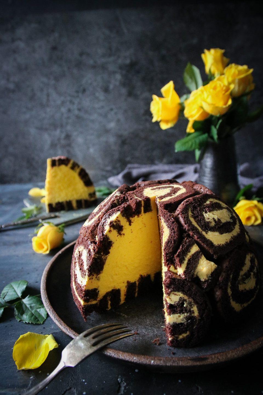 charlotte royale tårta med choklad och saffran