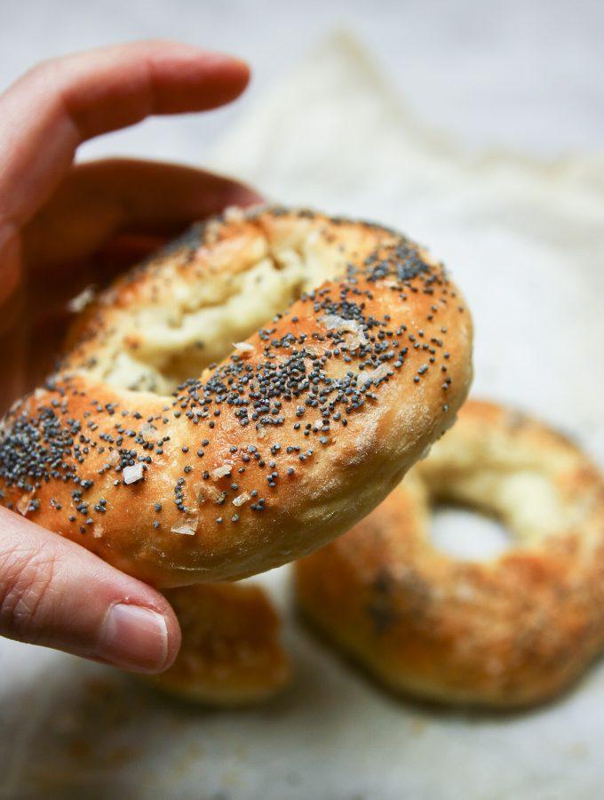 enkla jästfria bagels