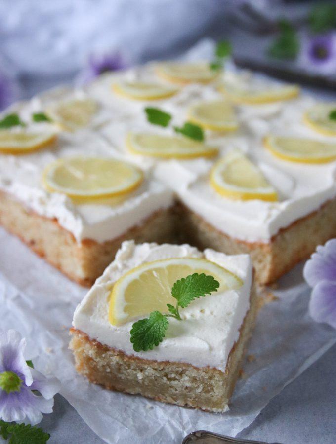 citronkaka med mascarponekräm