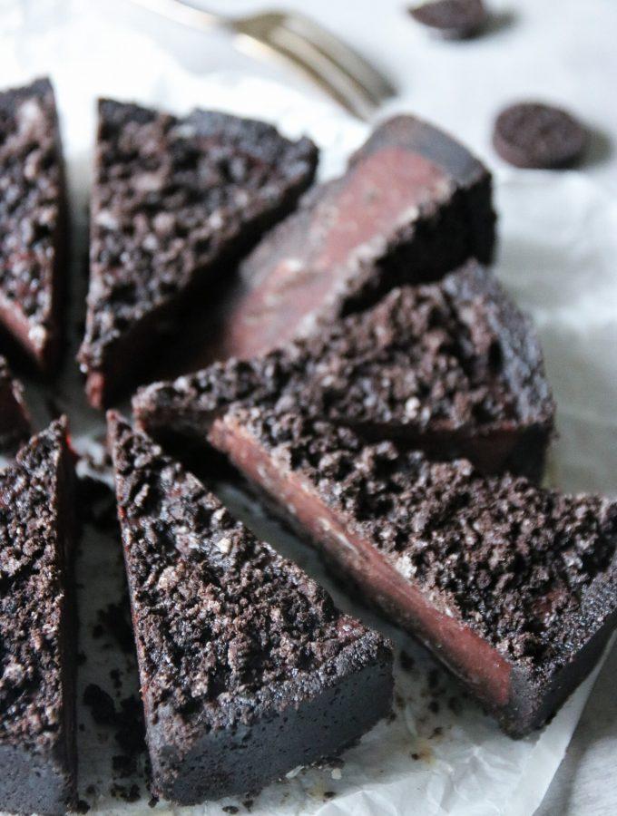 no-bake chokladpaj med Oreo