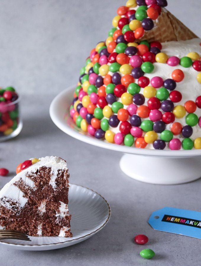 Skittles tårta