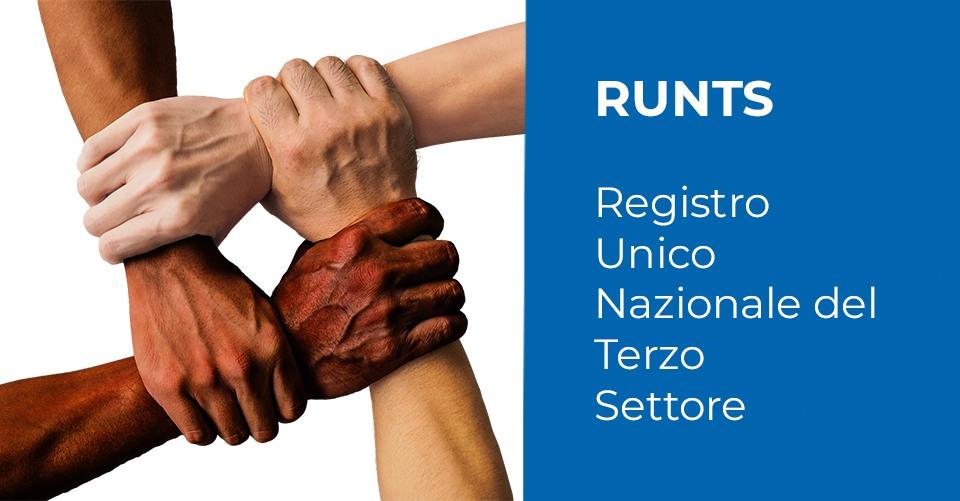 RUNTS – Registro Unico Nazionale del Terzo Settore