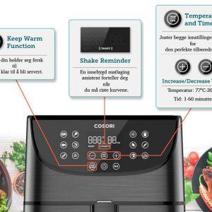 Cosori airfryer funksjoner