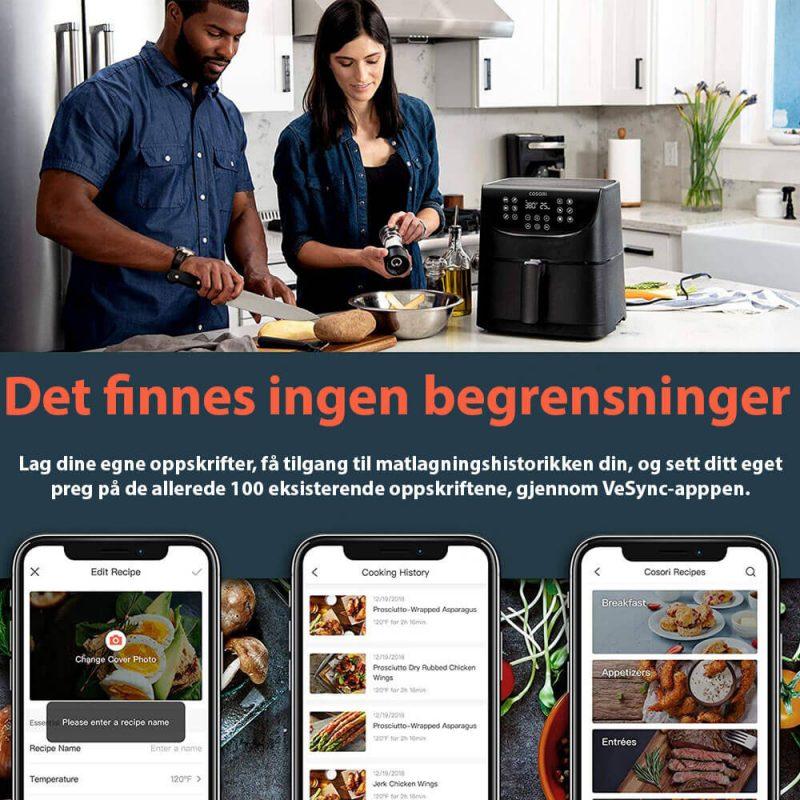 Cosori smart app airfryer