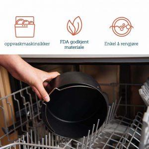 Oppvask airfryer tilbehør