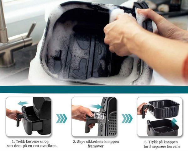 enkel oppvask airfryer
