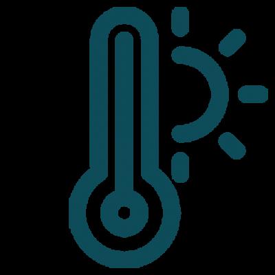 Airfryer temperatur ikon