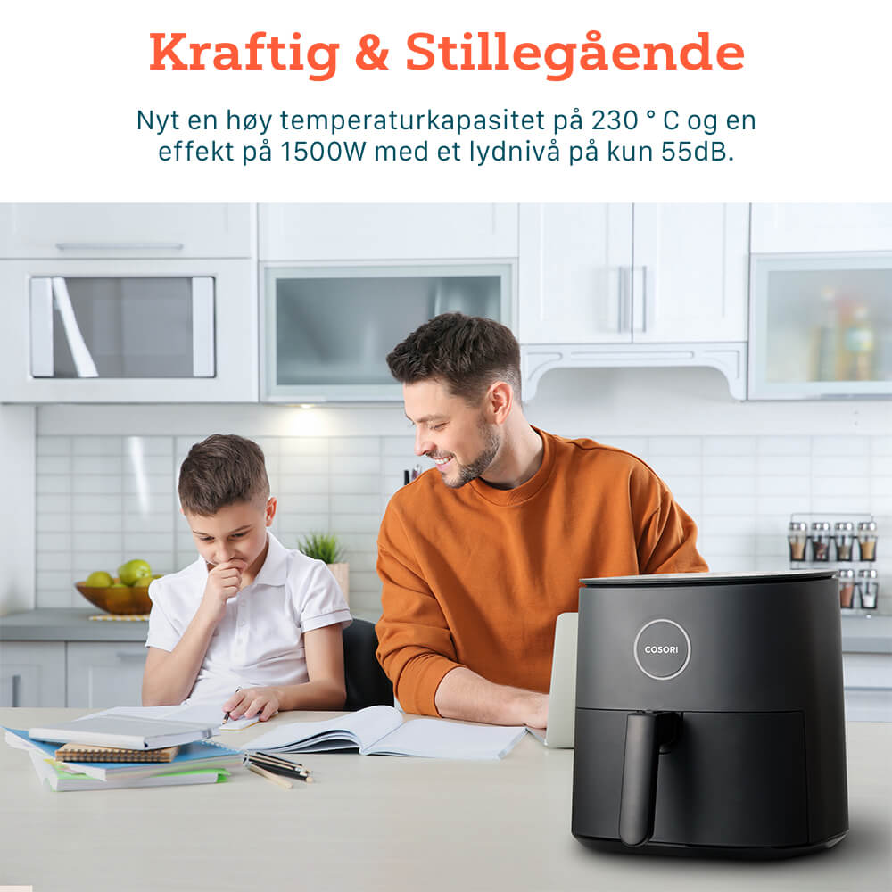 Cosori pro airfryer lyd