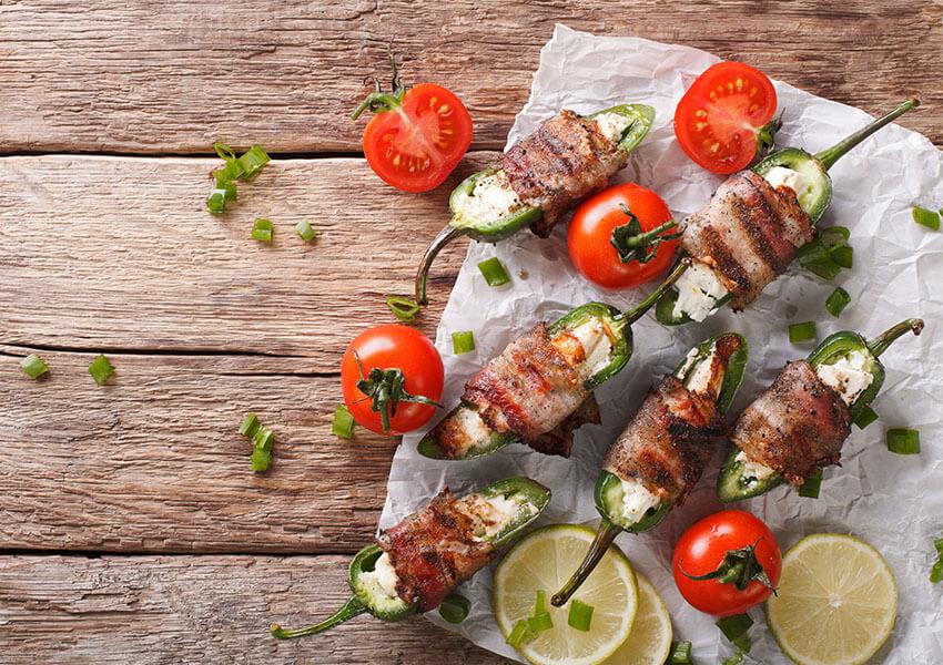 Fylte jalapeños med bacon airfryer oppskrifter
