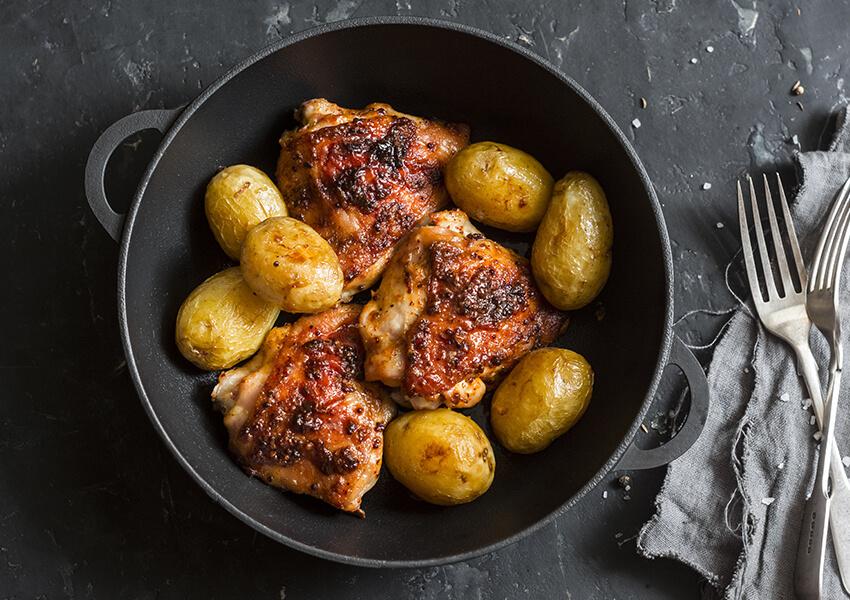 Kyllinglår stekt med sennep