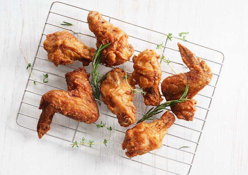 Kyllingvinger med hvitløk og parmesan