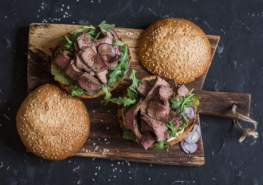 Sandwich med biff airfryer oppskrifter