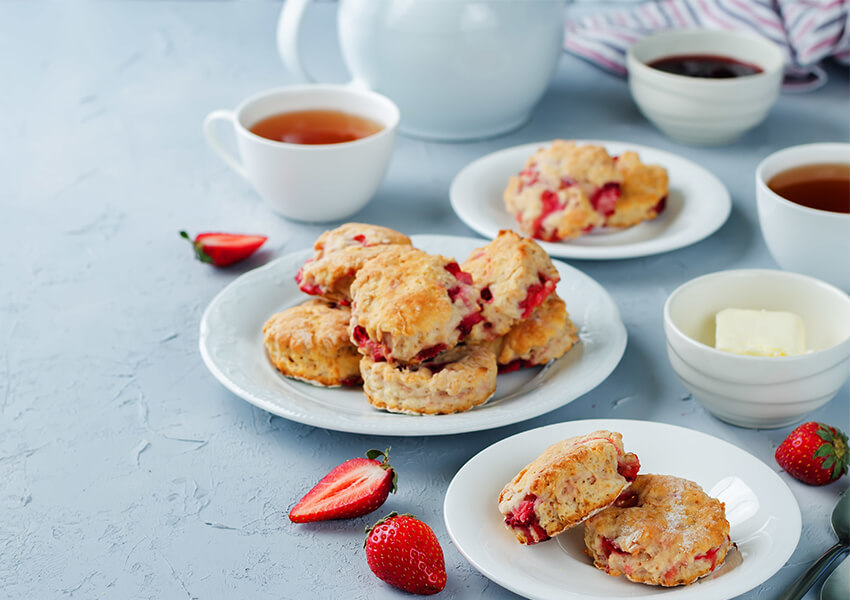 Scones med jordbær airfryer