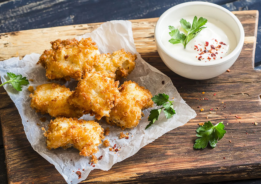 Sprø «fritert» fiskenuggets airfryer oppskrifter