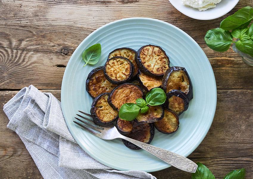 Stekt aubergine airfryer oppskrifter