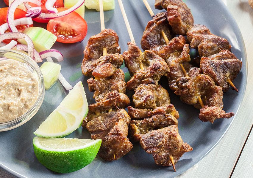 Svinekjøtt teriyaki grillspyd airfryer oppskrifter